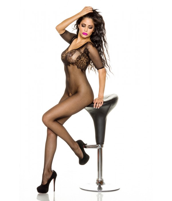 Črni bodystocking